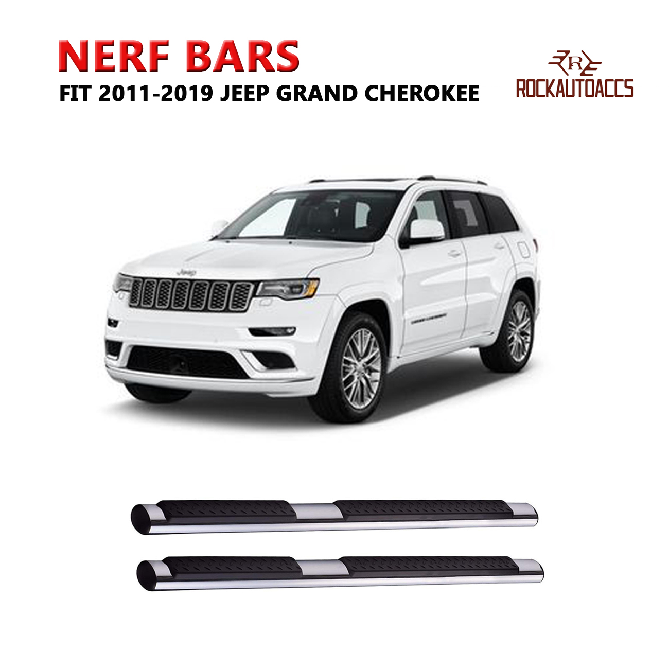 US Stock fits for JEEP Grand Cherokee 2011-2019 running board side step nerf bar
