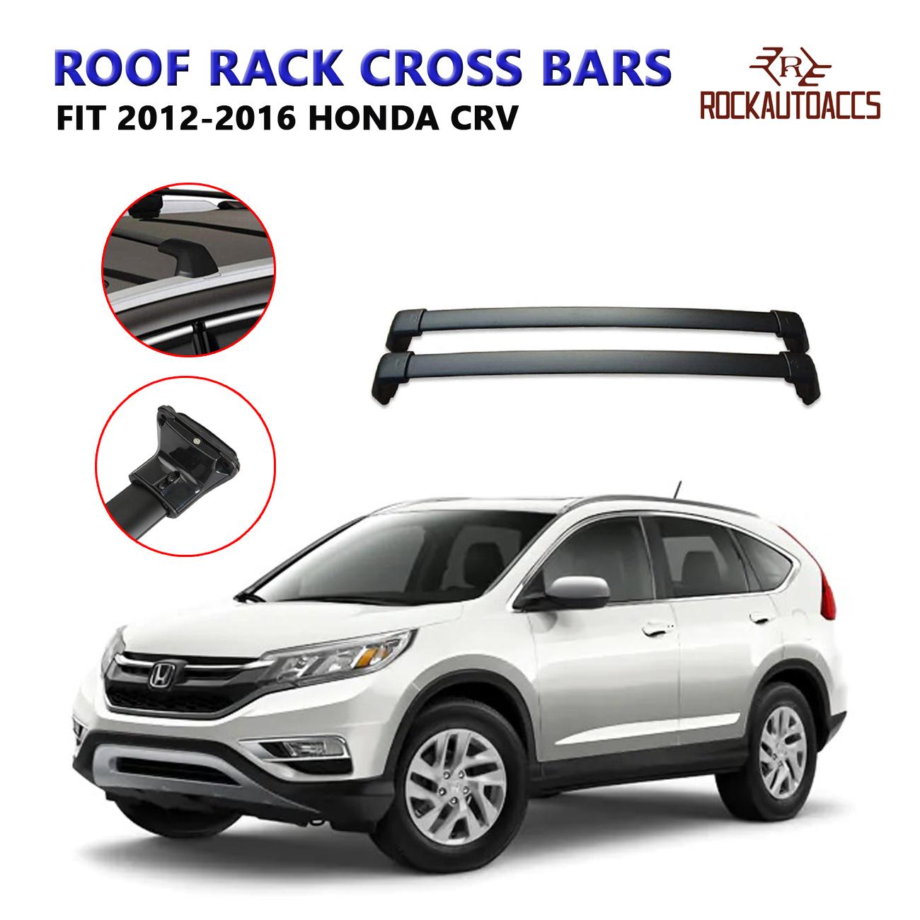 ROKIOTOEX Roof Rack Crossbars Roof Rail Cross Bars Fits 2018 2019 2020 Honda CRV with Side Rails Rooftop Kayak Cargo Bag Holder Luggage Carrier Aluminum Silver