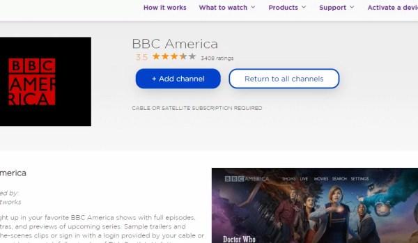 Add BBC America on Roku TV