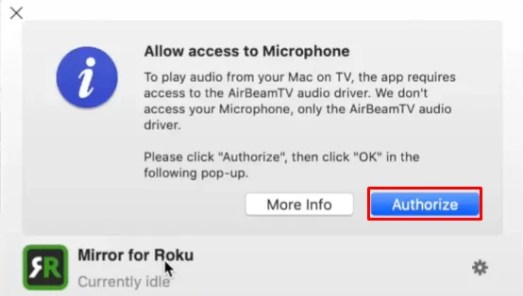 Auithorize - FACETIME ON ROKU