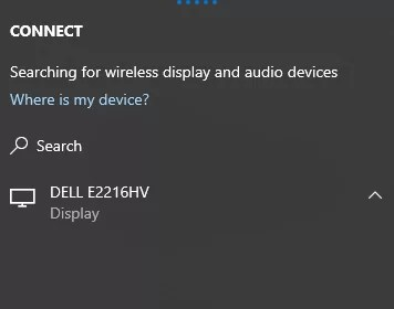 connect to wireless display - PC