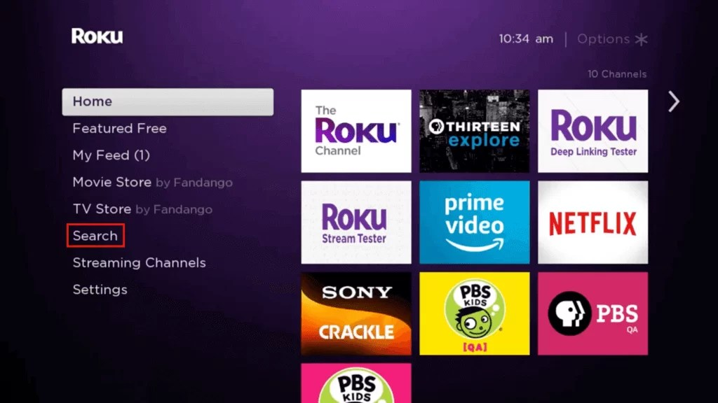 Download Channels on Roku