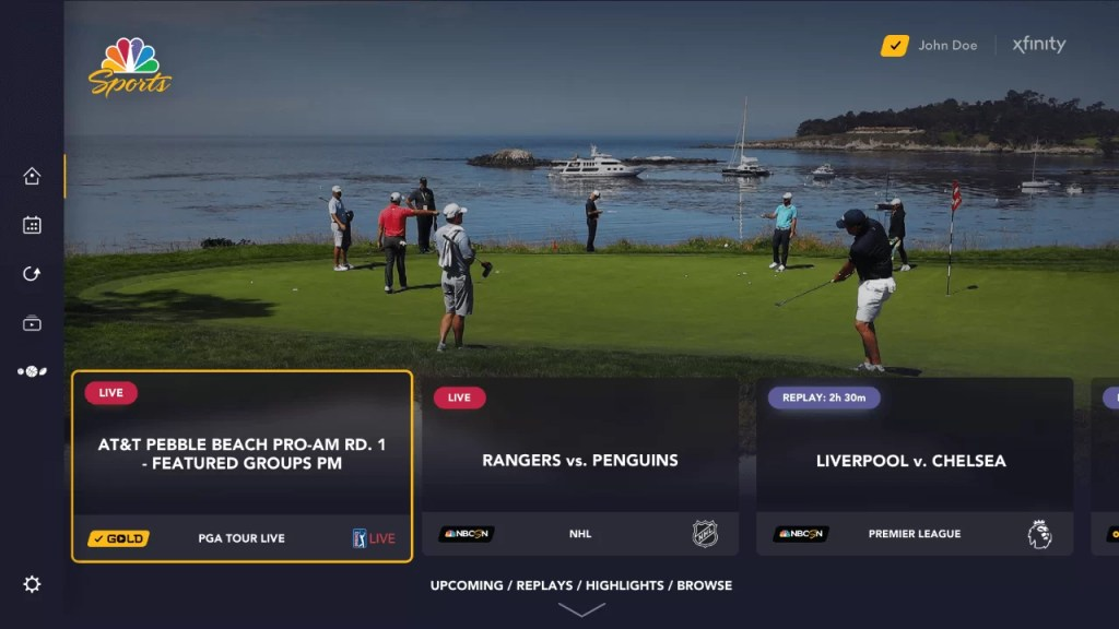 Golf Channel on Roku