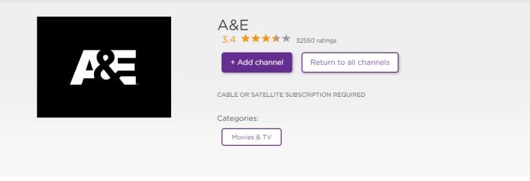 A&E on Roku