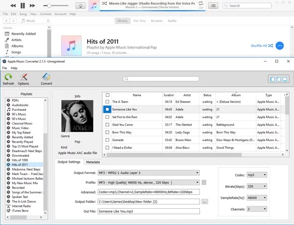 Add songs to the converter