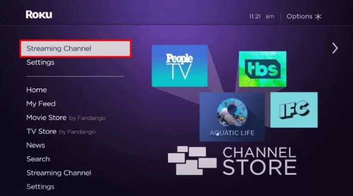 Select streaming Channel
