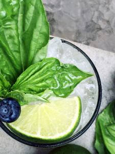 Blueberry Basil Mojito Ingredients