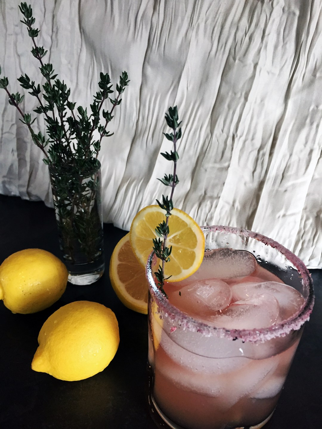 Elderflower Thyme Smash, cocktail recipe by rokz