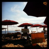 At the beach in Tuscany