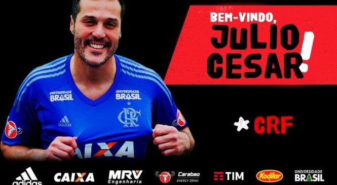 """Julio Cesar volta ao Flamengo com contrato de 3 meses: e  """"salário simbólico"""""""