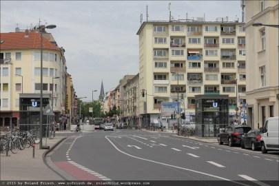 Bonner Straße. Hier fuhr ich früher die Linie 6 her...