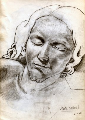 Detail - Michelangelo's Pieta