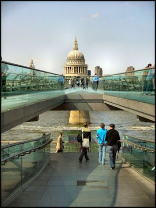 London-S.Bank Millennium Bridge