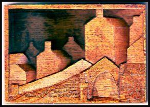 Pack Horse Bridge-Bas relief in Wood