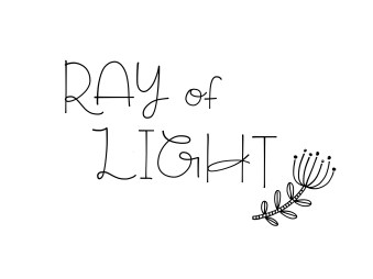 Here I wrote Ray of Light in this font!