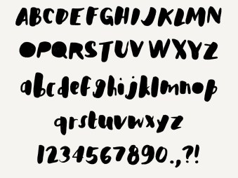 This font is the 53 version of a real font that I am selling in my Creative Market shop. You can try it out in Paper!