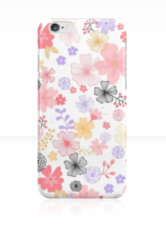 The phone case is available for iPhone 4/4S, 5/5C/5S, and 6/6S. It is also available for Samsung Galaxy S3, S4, and S5. http://bit.ly/floralphonecase