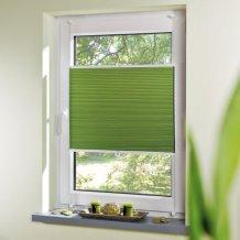 zielona plisa na białe okno