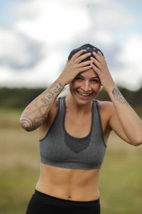 Fotoshooting Runner Läufer für Earebel Kopfhörer im Rotmoos in Isny im Allgäu