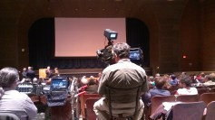 Camera crew is prepped and ready to go for tonight's lecture featuring Dr. Michael F. Holick