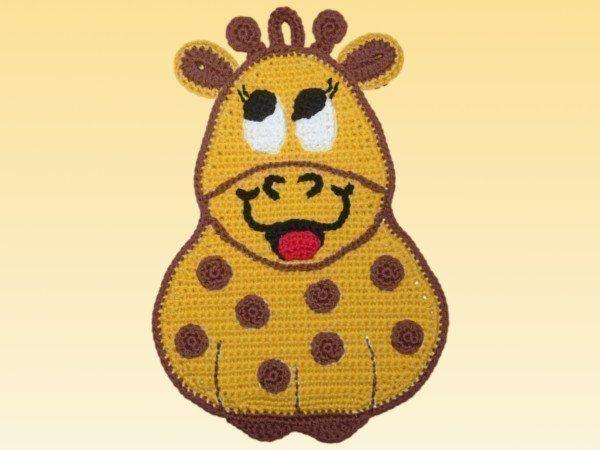 Topflappen Häkel Topflappen Giraffe Lina Tier