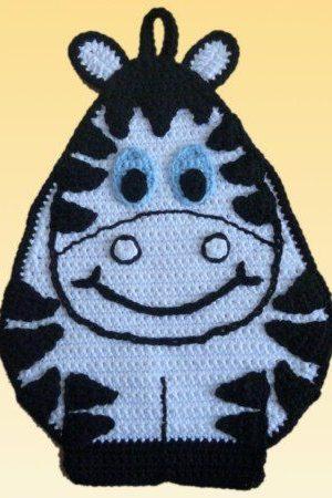 Häkel Topflappen Zebra Zeppo