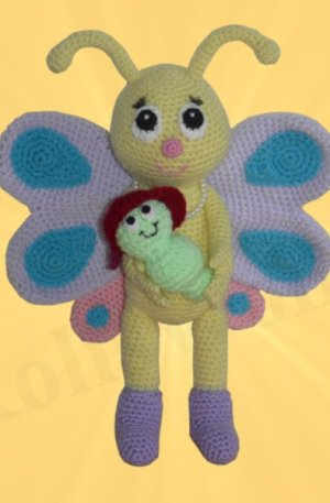 Amigurumi Schmetterling mit Schaukel Bibsi