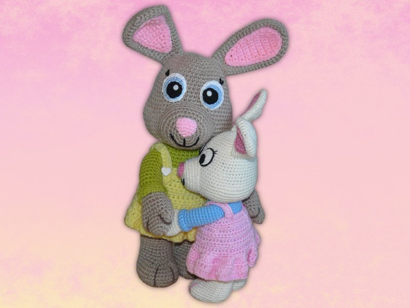 Häkelanleitung Amigurumi Hase Happy ♥ | 600x800