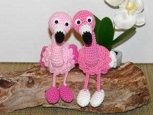 Flamingo, Schlüsselanhänger oder Kantenhocker