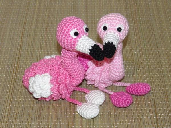 Amigurumis Flamingo, Schlüsselanhänger oder Kantenhocker Amigurumi