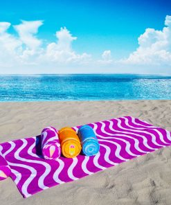 beach towel with attached pillow