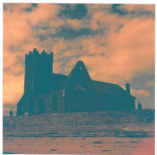 Church and Abbey of St. Augustine from the beach with Cokin Orange filter