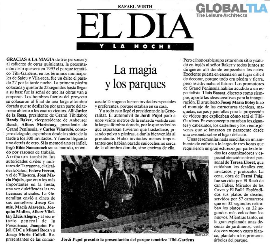Artikel uit El Dia over het project.