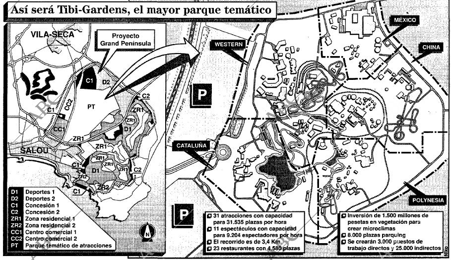 Indelingsplan zoals gepubliceerd in de Spaanse krant ABC.