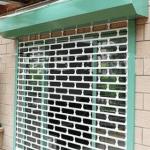 Aluminum rolling grill shutter door