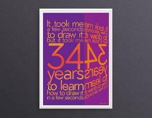 Typo-Poster Grafikdesign Referenz
