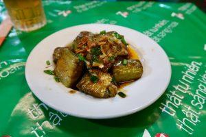 Plate-of-aubergine