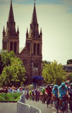The peloton in Adelaide