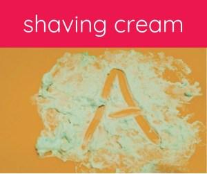 tray with shaving cream