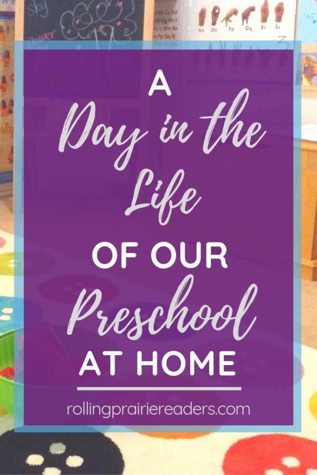 A Day in the Life of our Homeschool Preschool