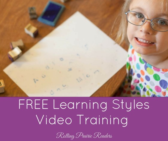 Learning Styles Video Training for Parents of Preschoolers and Elementary Age Students | types of learning styles, strategies, personalized education