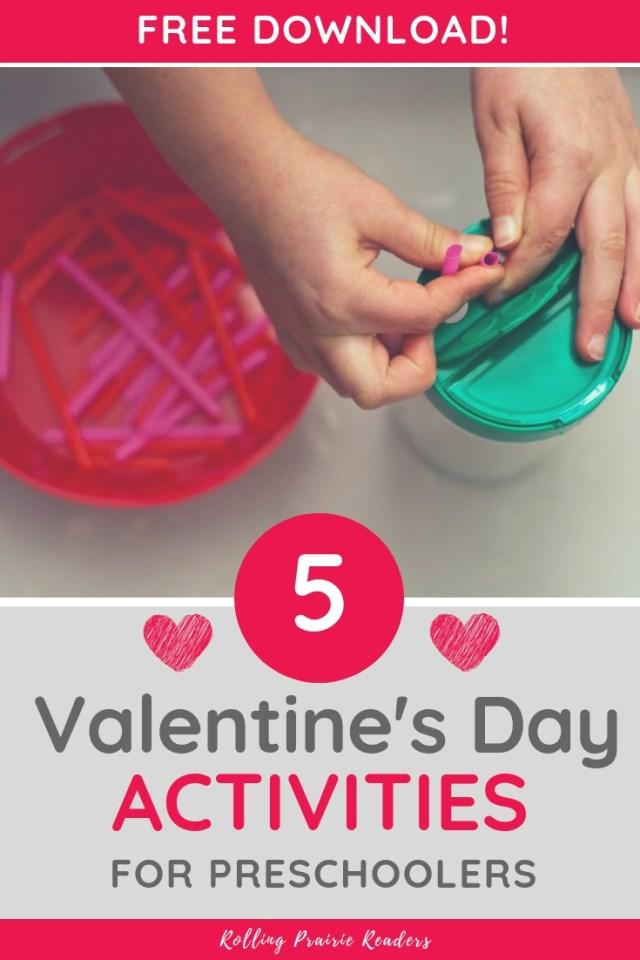 Valentine's Day Activities for Preschoolers {Free Download}
