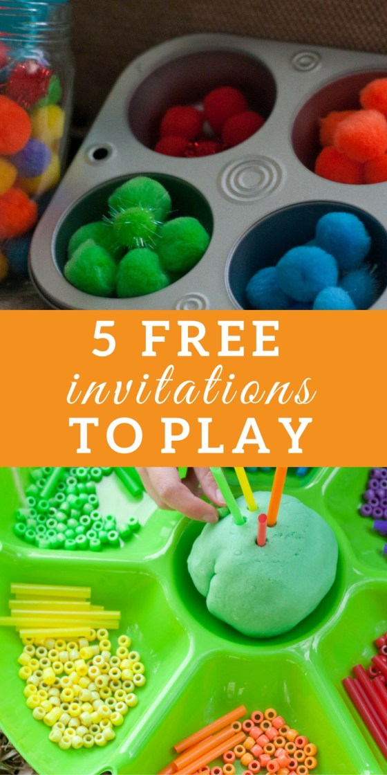 5 Free Invitations to Play: Rainbow | Rainbow Learning Activities, preschool sensory play, spring tactile activities, activities for kids