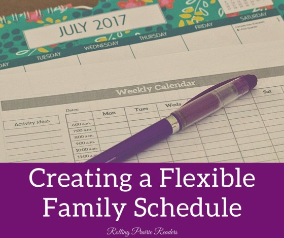 Create a Flexible Family Schedule | family time, summer schedule, summer bucket list, indoor activities, outdoor activities