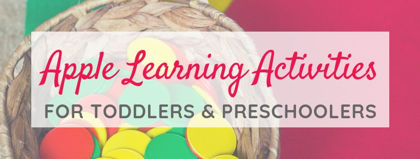 Apple Learning Activities FREEBIE for Toddlers and Preschoolers