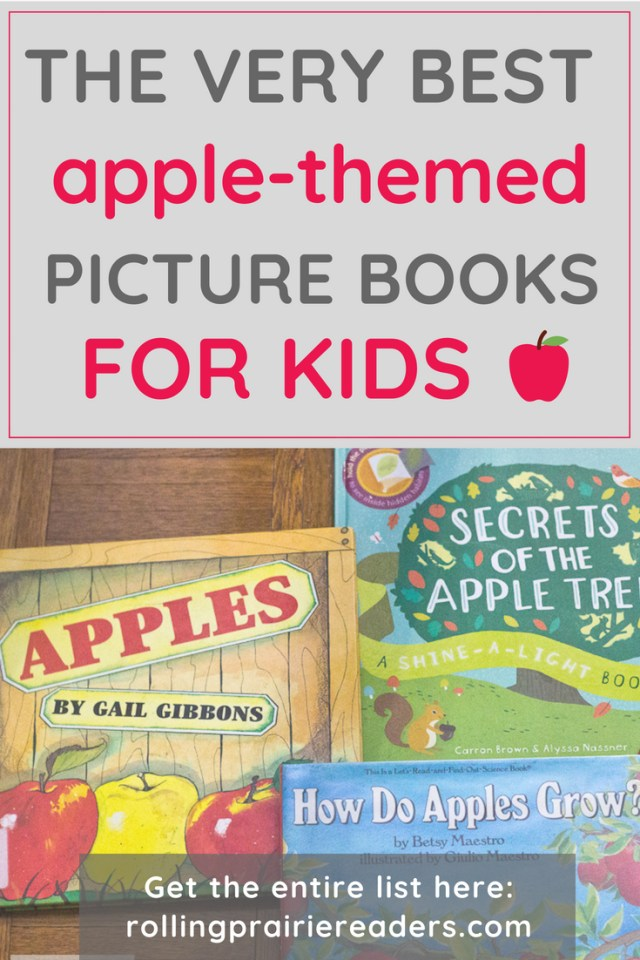 Text: The VERY best apple-themed picture books for kids