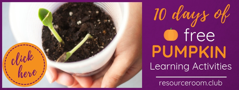 Join our FREE Facebook group for 10 days of pumpkin learning activities.