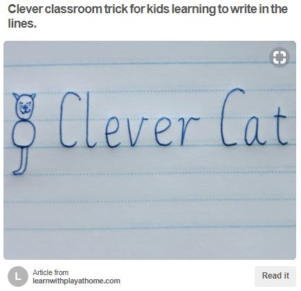 Clever Cat Trick for Letter Formation