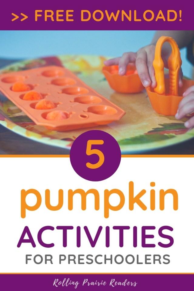 5 pumpkin activities | FREE download