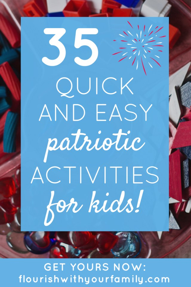 35 Quick and Easy 4th of July Activities for Kids | Come celebrate Independence Day with these fun learning ideas for preschool and primary grades! #4thofJuly #IndependenceDay #familyfun